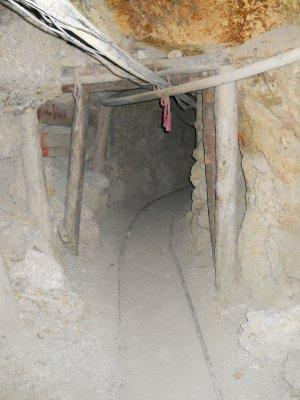 Inne i gruvene