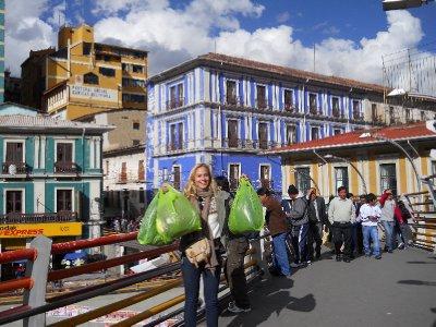 Vaar heidundrende shoppingdag i La Paz