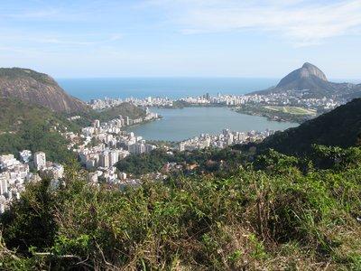 Utsikten  ut over Ipanema hvor vi bor