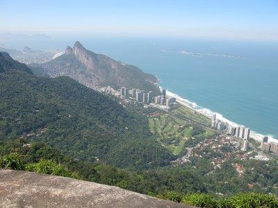 Fantastisk utsikt over Rio og Ipanema beach.