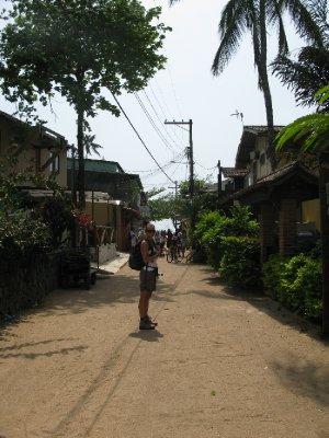 Sentrum av Ilha Grande - ikke stort, men dog hyggelig.