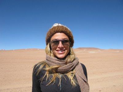 In tha desert!