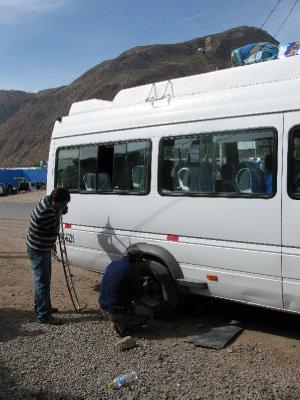 Punga dekk paa veien til Inca trailen.
