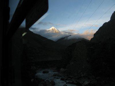 Utsikten fra toget paa vei hjem fra Inca trail