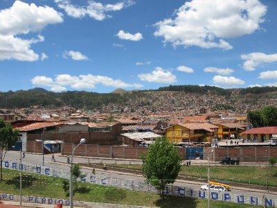 Utsikten fra hostellet vaart i Cuzco