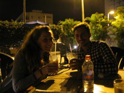 Middag på uterestauranten på Barcelo