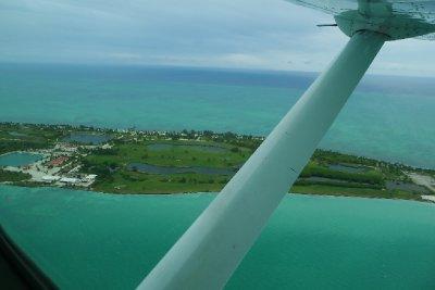 Fra flyturen fra fastlandet til Ambergris Caye og San Pedro