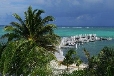 Utsikten fra terrassen vår