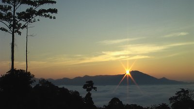 SUNRISE OVER DANUM VALLEY