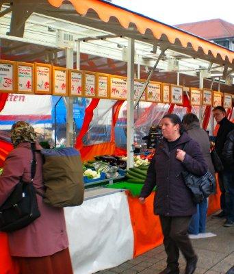 Fresh vegetables in the market