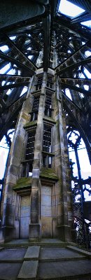 Inside the Cathedral tower, last stretch...