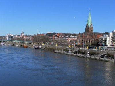 The Wesel River and Bremen