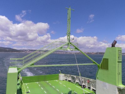 The ferry crossing from Setubal to Troia