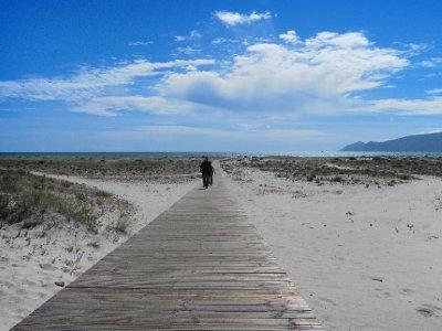 Walkaway to the beach