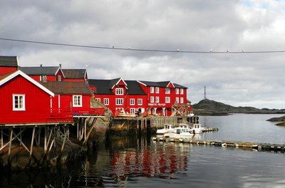 Postcard view of Â, Lofoten
