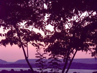 Purple sunset in Tajo del Aquila