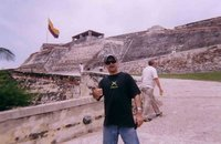Jake at the San Felipe Military Fortress, Cartagena Colombia