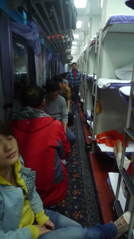 Chinese sleeper train 2nd class