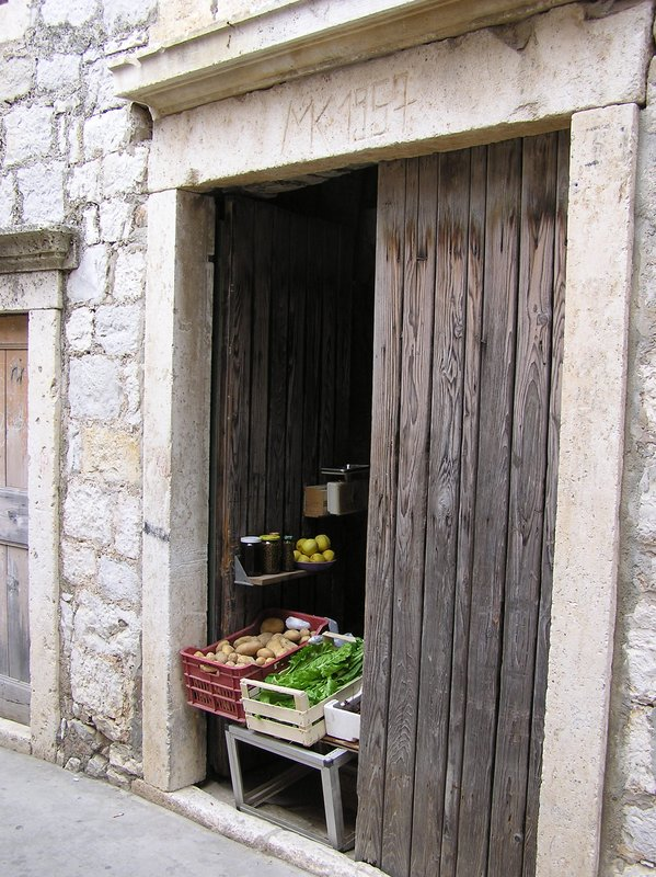 Croatian Door & Veggie Stand