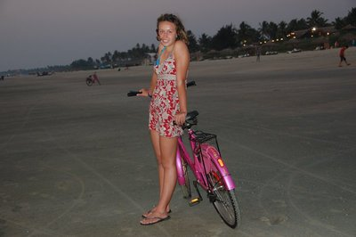 Solstice with her fabulous pink bike!