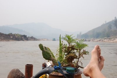 Mike chilling on the Mekong