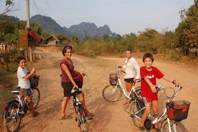 Exploring Vang Vieng by bike