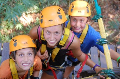 The bravest zip liners!