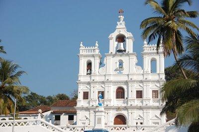 A beautiful Goan church, as plentiful as palm trees