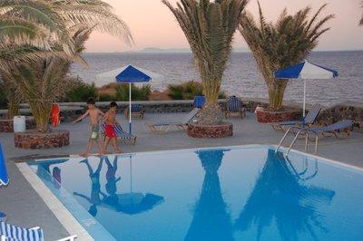 Pooling it in Santorini