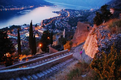 Fantastic view of Kotor below the fortress