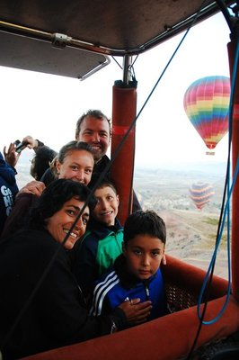 Here we go in the hot air balloon!