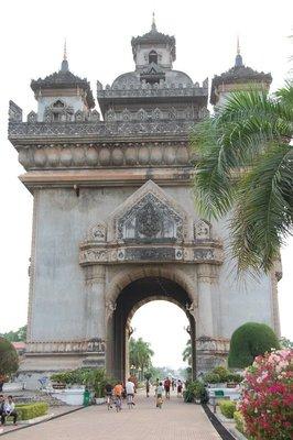 Victory Gate in Vientiane