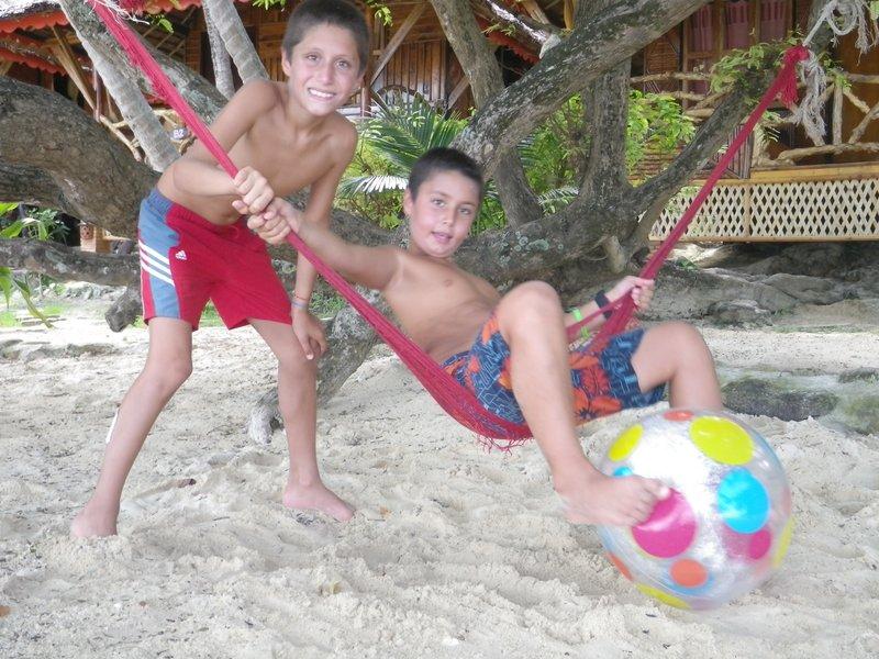 The boys making up infinite hammock games