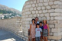 Finding shade in Dubrovnik.