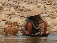 Panning for gold on the Mekong