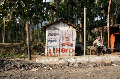 Roadside shop at the foothills of the Western Ghats