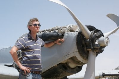 The remains ofn q spitfire, el alamein meseum