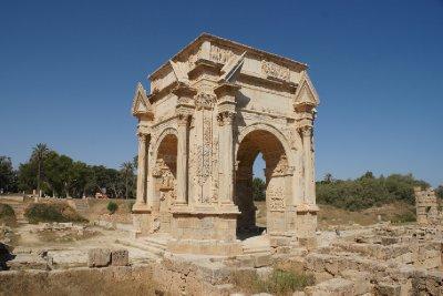 The Septimius Severus Arch, Leptis Magna, Libya