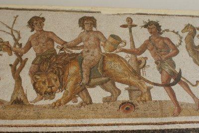 Detail of a Mosaic El Djem Museum