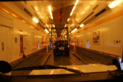 The Euro Tunnel Train Carriage