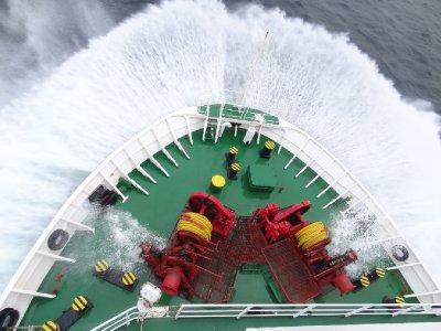 Lors du passage dans l'océan nous avons été un peu secoué!