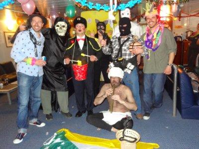 L'équipage s'est déguisé pour fêter nouvel an