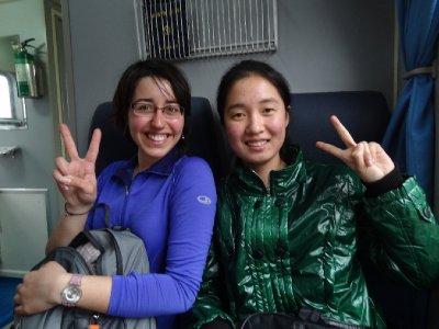 Fiona et une de nos nouvelles copines chinoises