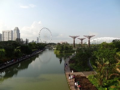 Garden by the bay et la grande roue
