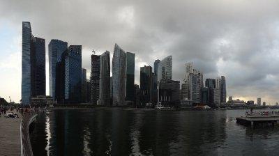 Le CBD (Central Business District= Quart. des affaires) de Singapour