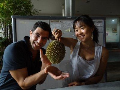 La star du jours: Le Durian. Présenté par Fillou et Weina!