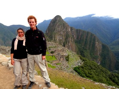 Fiona et Antoine au Machu Picchu