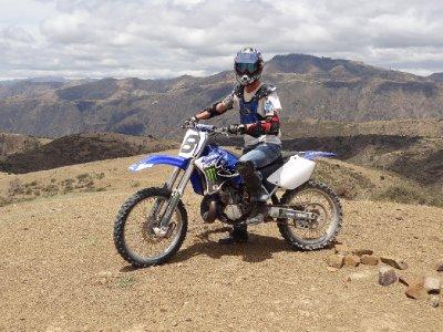 Antoine sur sa moto