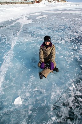 Fiona sur la glace