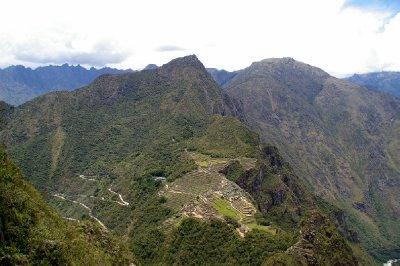 Vue depuis le haut du Huayna Picchu